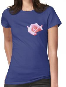 Lovely pink rose Womens Fitted T-Shirt