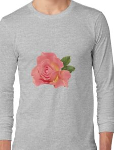 Pretty pink rose Long Sleeve T-Shirt