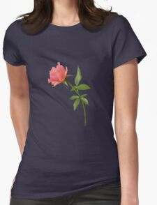 Romantic pink rose Womens Fitted T-Shirt
