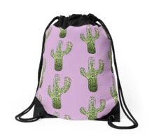 Cactus: Green Drawstring Bag
