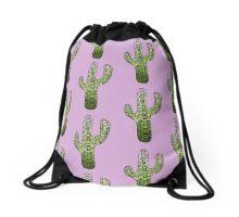 Cactus: Green Drawstring Bag