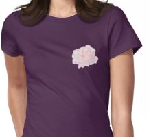 Elegant pink rose Womens Fitted T-Shirt