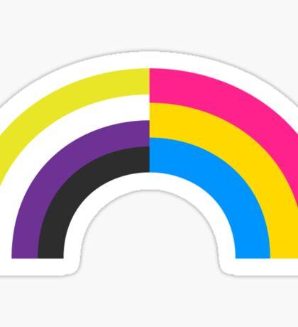 Non-Binary Pan Rainbow Sticker