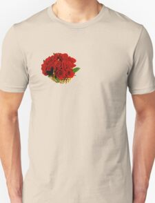 Basket of red roses Unisex T-Shirt