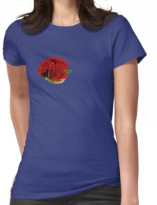 Basket of red roses Womens Fitted T-Shirt