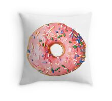 a real donut Throw Pillow