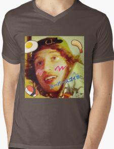 Kawaii LSD Face SKYSCRAPER Mens V-Neck T-Shirt