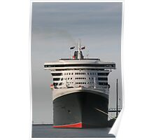 Queen Mary 2, Maiden Voyage, March,2010. Poster