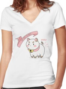 Too Cute To Poot! Women's Fitted V-Neck T-Shirt