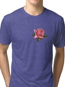 Watercolor rosebud Tri-blend T-Shirt