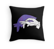Hand Silhouette Anteater Purple Throw Pillow