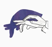 Hand Silhouette Anteater Purple Kids Clothes
