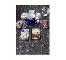 Tarot reading and tea Art Print