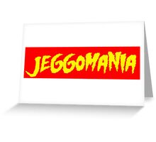 Jeggomania Red Greeting Card