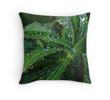 Nature's emeralds Throw Pillow
