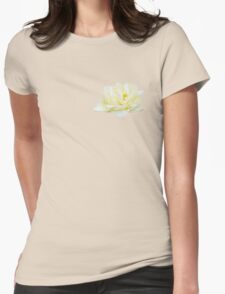 Tea rosebud Womens Fitted T-Shirt