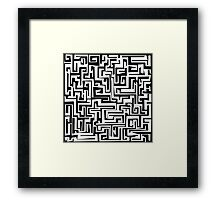 Maze Design Framed Print