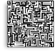 Maze Design Canvas Print