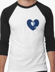 Unhappy Refrain Blue Men's Baseball ¾ T-Shirt