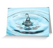 Aqua Rising Greeting Card
