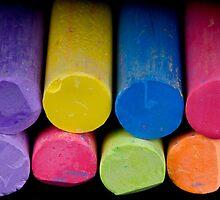 Colored chalk by Jeffrey  Sinnock