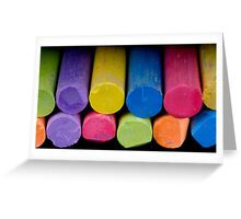 Colored chalk Greeting Card