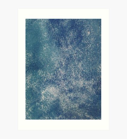 Blue Abstract in Azurite Art Print