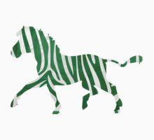 Zebra Green and White Print Kids Clothes