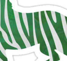 Zebra Green and White Print Sticker