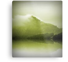 Green Mountain Mist Metal Print