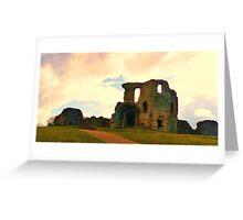 Denbigh Castle, in North Wales Greeting Card