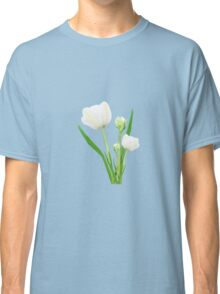 Bouquet of white tulips Classic T-Shirt