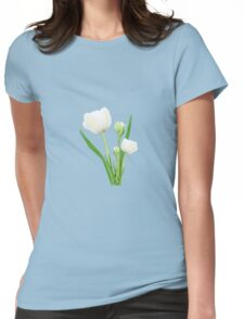 Bouquet of white tulips Womens Fitted T-Shirt