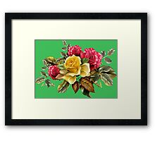 Watercolor rose bouquet Framed Print