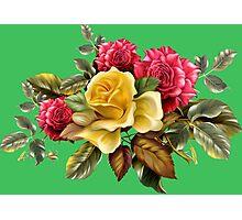 Watercolor rose bouquet Photographic Print