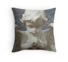 Angel - Candle Holder Throw Pillow
