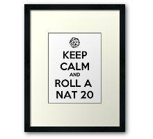 Roll a Nat 20. Framed Print