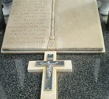 Beautiful Cross on tombstone - Werribee Cemetery by EdsMum