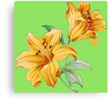 Yellow orchides Canvas Print