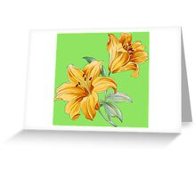 Yellow orchides Greeting Card