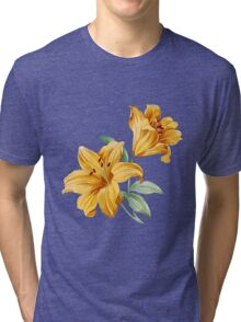 Yellow orchides Tri-blend T-Shirt