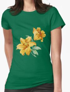 Yellow orchides Womens Fitted T-Shirt