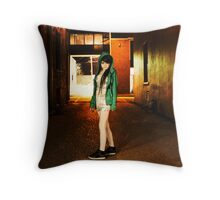 Clubber running from the cops Throw Pillow