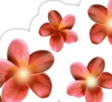 Shining red flowers Sticker