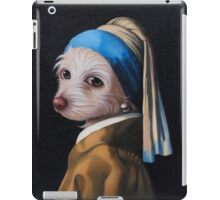 The Dog with the Pearl Earring (Full Painting) iPad Case/Skin