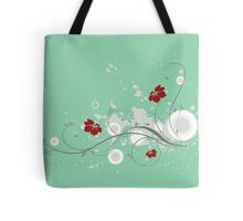Lovely red flowers print Tote Bag