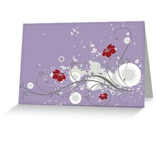 Lovely red flowers print Greeting Card