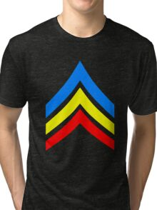 United States Gay Sergeant Stripes Tri-blend T-Shirt