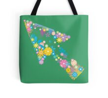 Colorful flower arrow Tote Bag