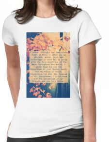 Morning Offering Prayer Womens Fitted T-Shirt